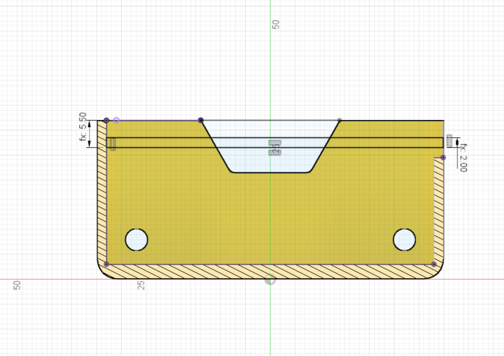 Chassis Arduinio slot Cad Drawing